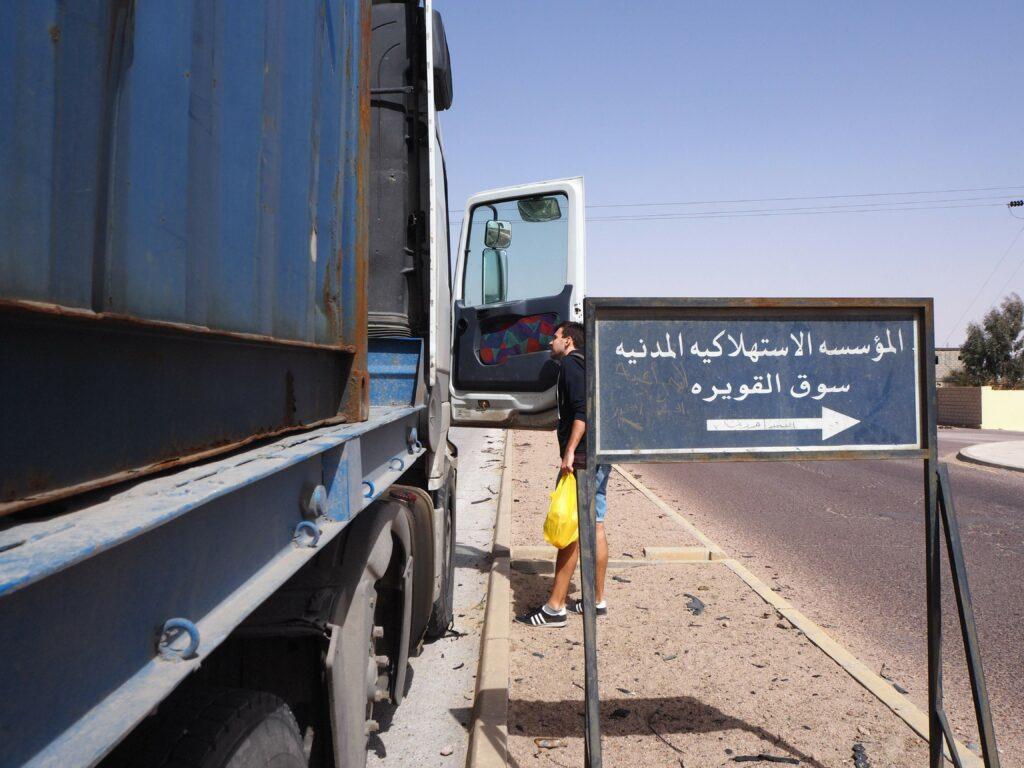 Autostopem po Jordanii.