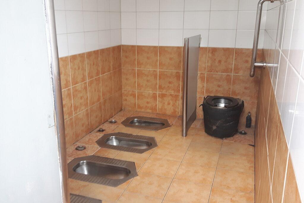 Publiczne toalety w Pekinie.